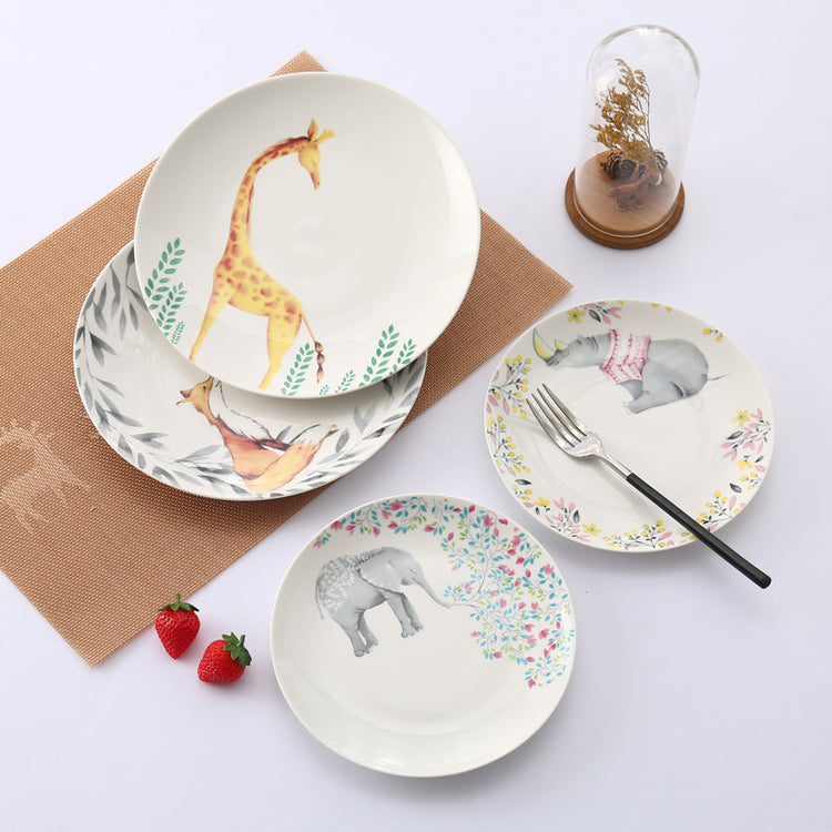 Animal Forest Porcelain Plates