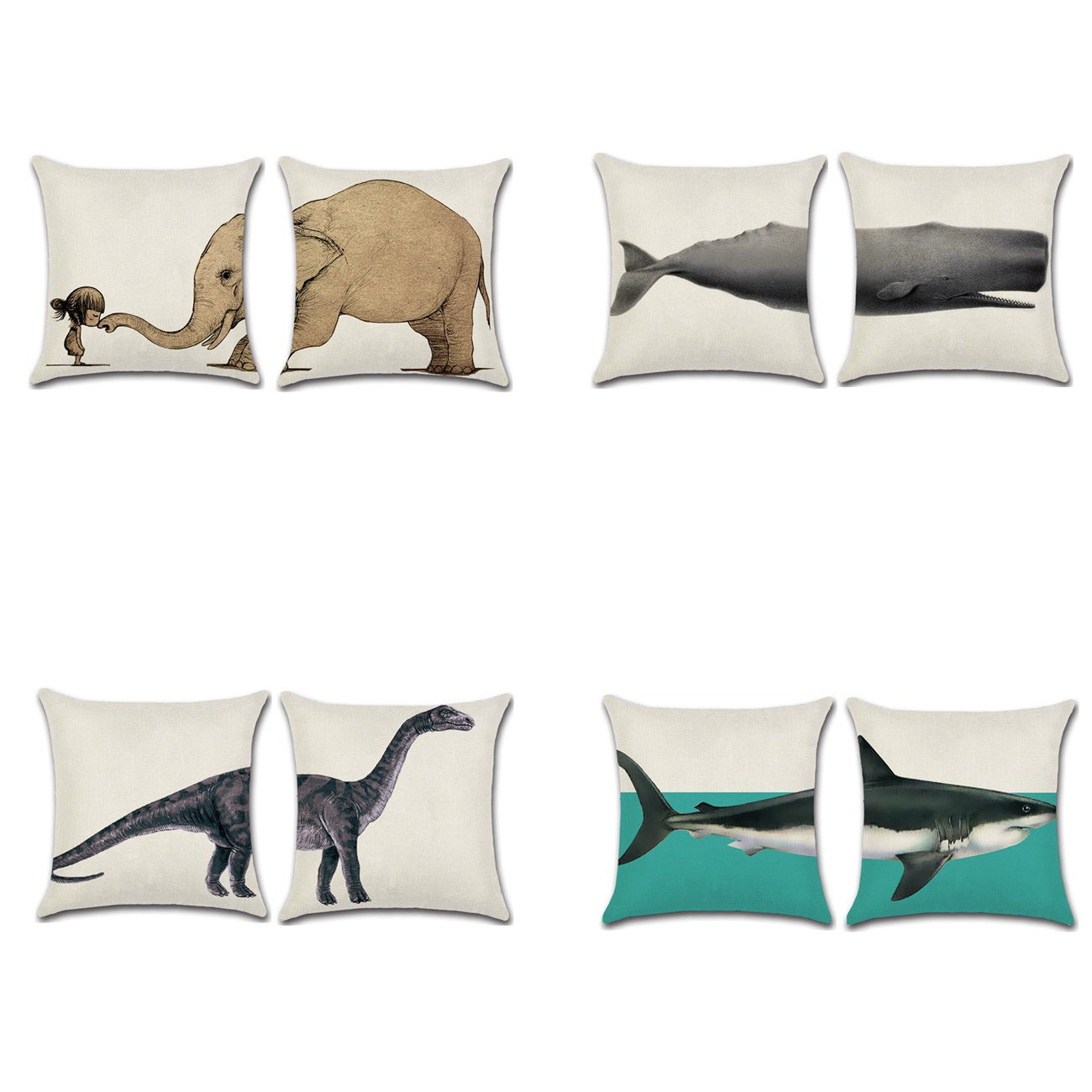Double Trouble Animal Pillow Covers