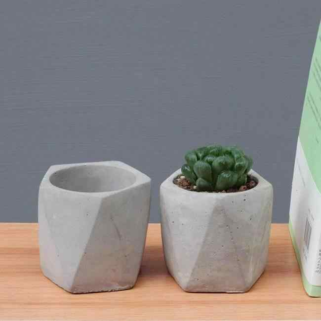 Geometric Cement Mini Planters
