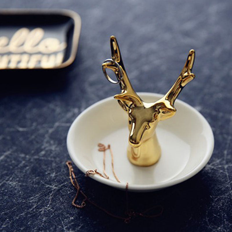 Deer Jewelry Dish