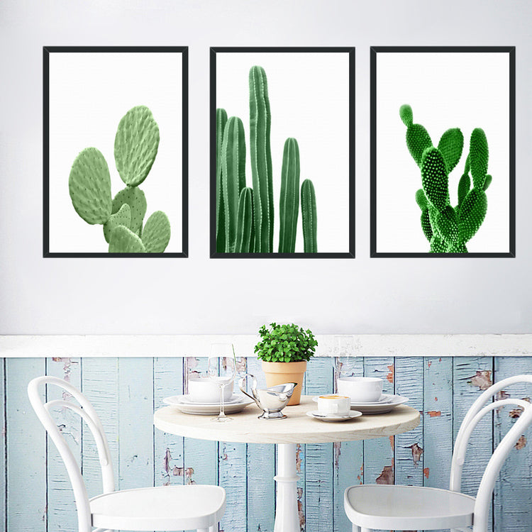 Green Cactus Canvas