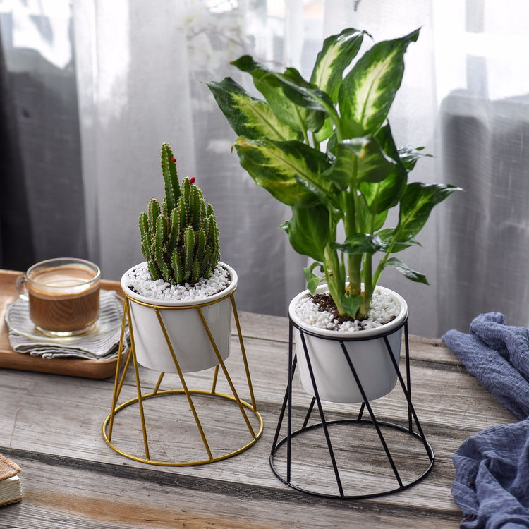 Scandi Diagonal Wire Planter