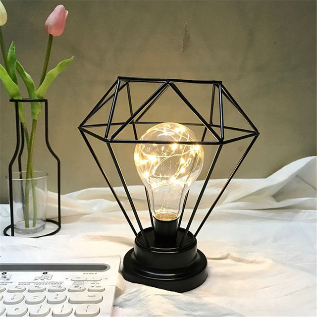 Wire Diamond Night Light