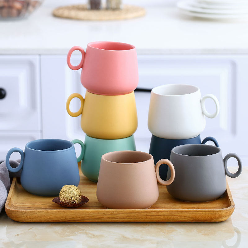 Scandia Rainbow Porcelain Mugs