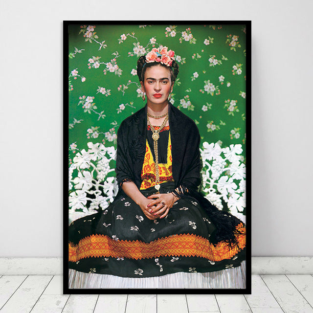 Frida's Pose Canvas