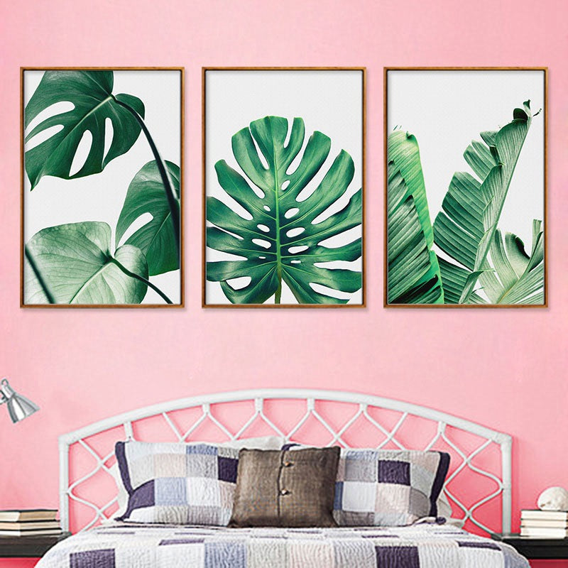 Tropical Leaves Canvas Set