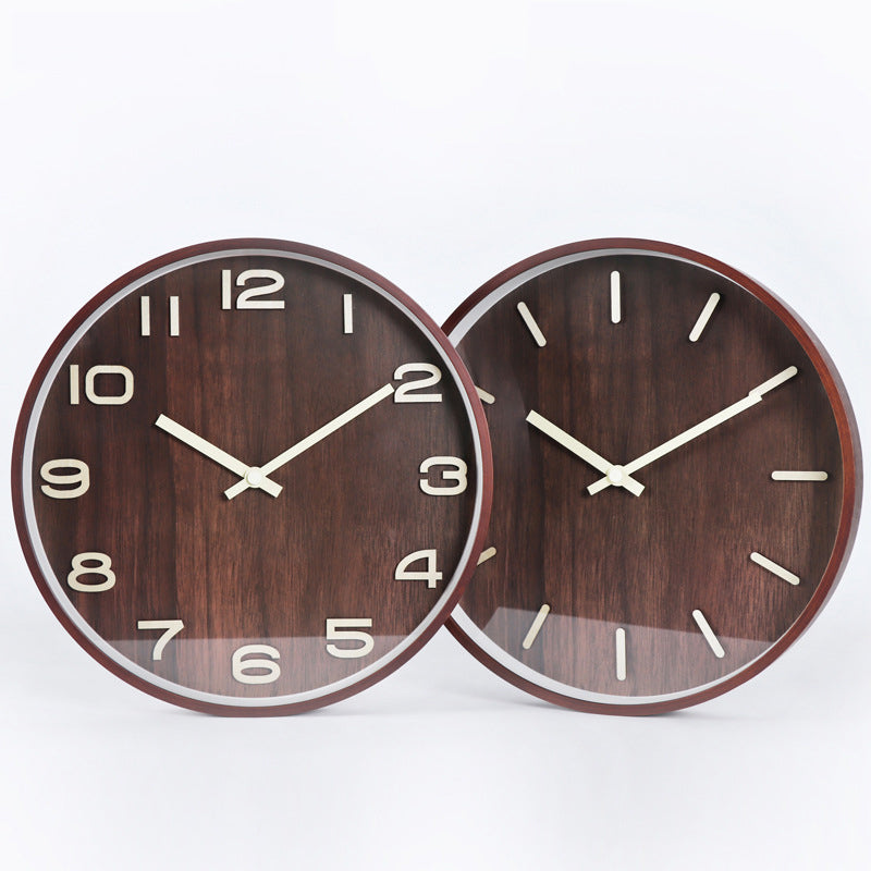 Norwegian Wood Wall Clock