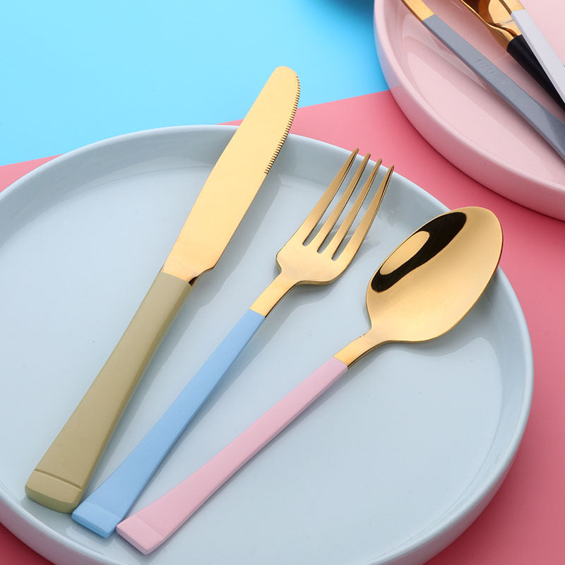 Gold Pastel Cutlery Set
