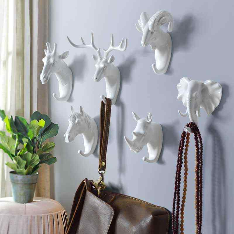 Animal Hooks White