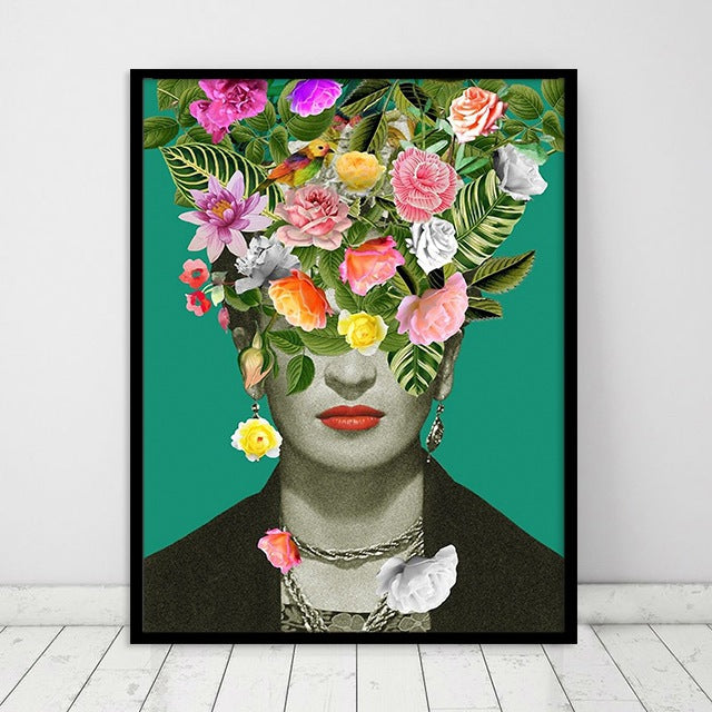 Frida's Flowerbomb Canvas