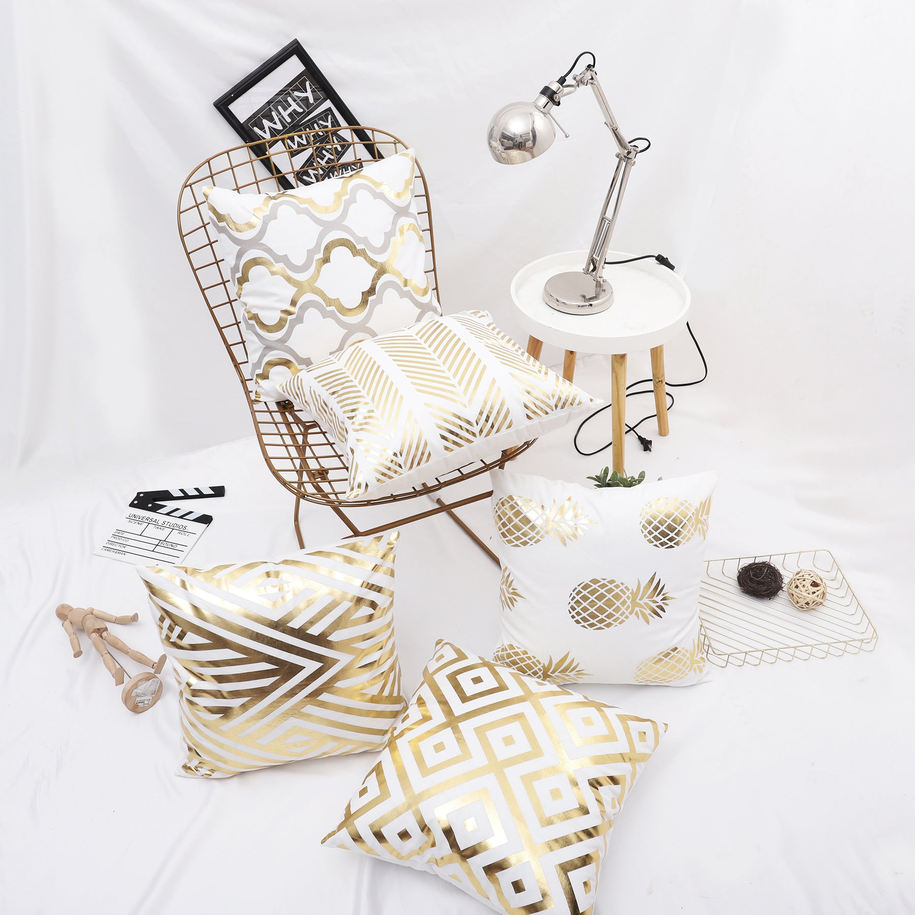Bianco D'Oro Pillow Cover Collection