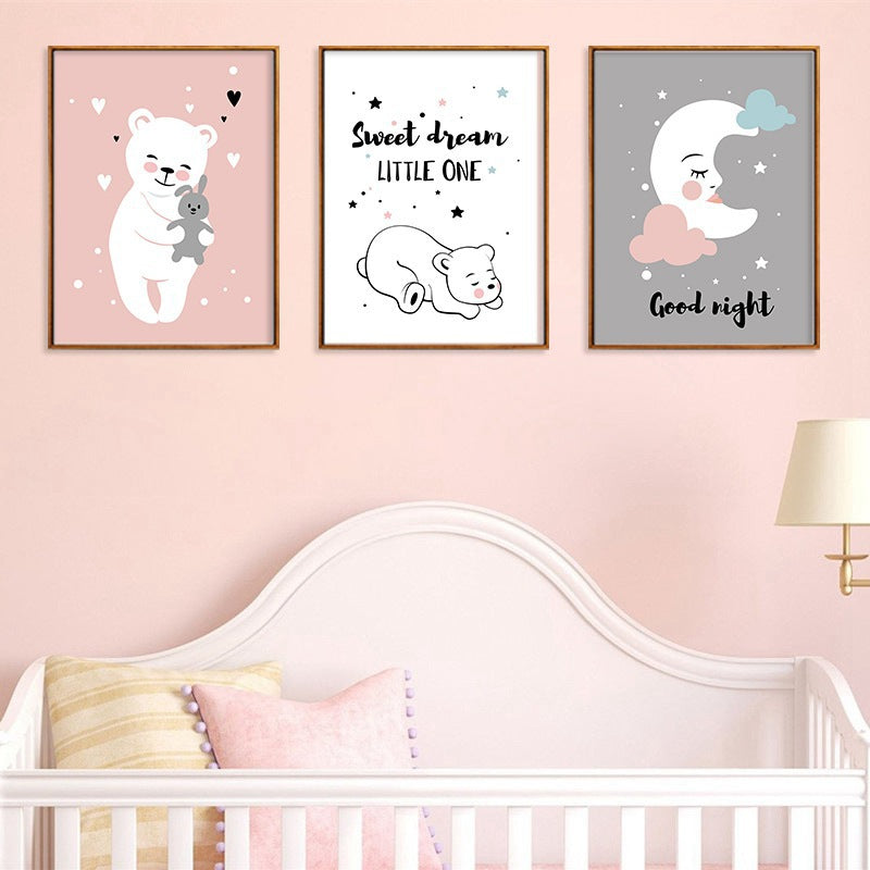 Sleepy Bear Canvas Collection