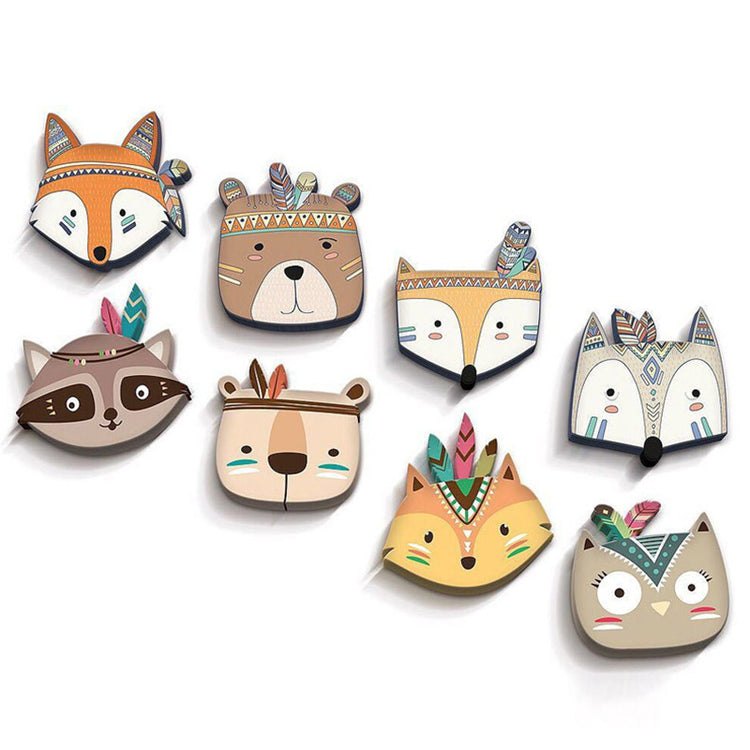Forest Friends Wood Ornaments