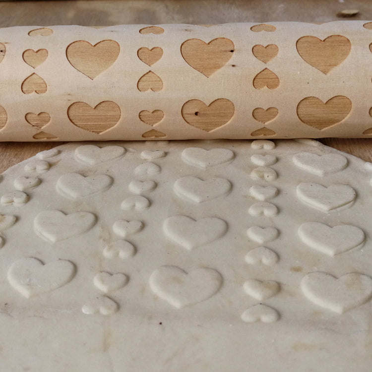 Hearts Rolling Pin