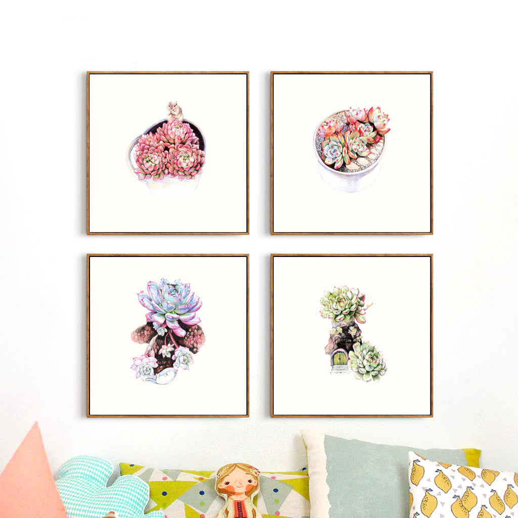 Soft Succulent Canvas Collection