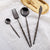 Black Bamboo Cutlery Set