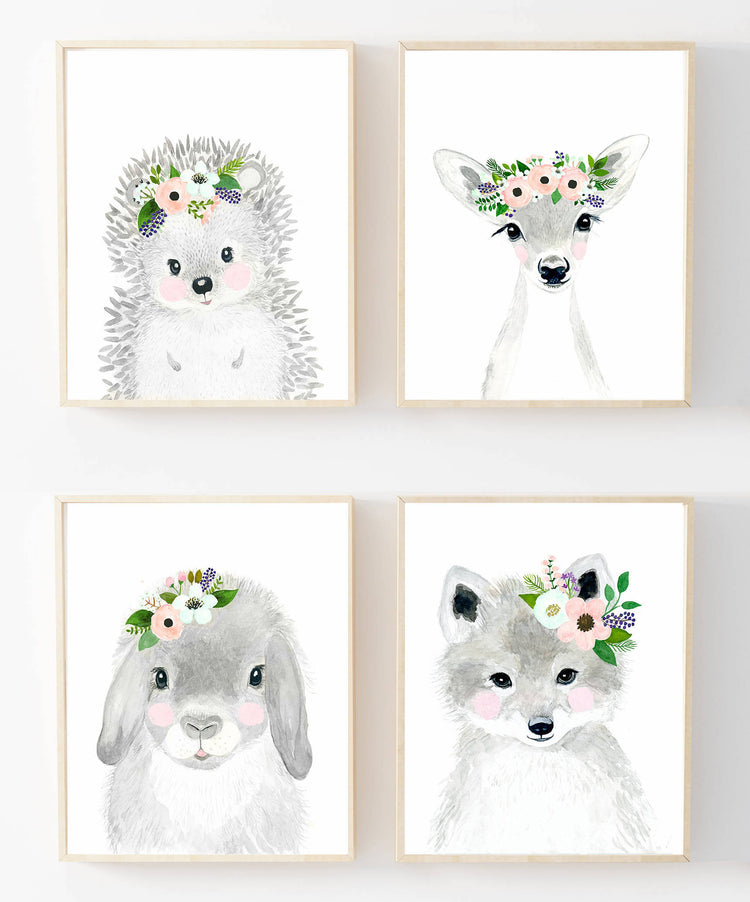 Flower Animal Canvas Collection