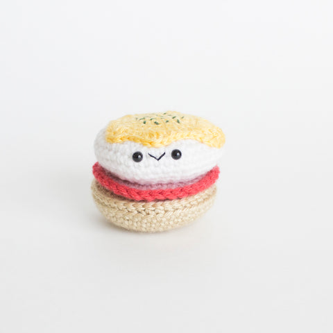 Crochet Amigurumi Eggs Benedict- READY TO SHIP