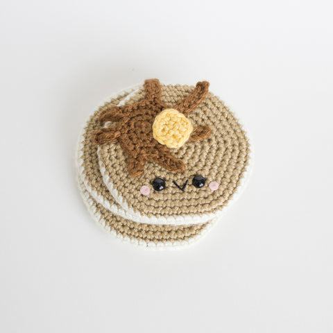 Crochet Amigurumi Pancakes- Set of 3, READY TO SHIP