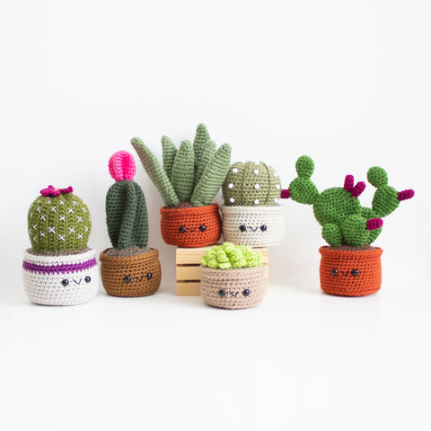 Crochet Pattern: Cactus and Succulent Pattern Bundle, PDF Amigurumi Pattern