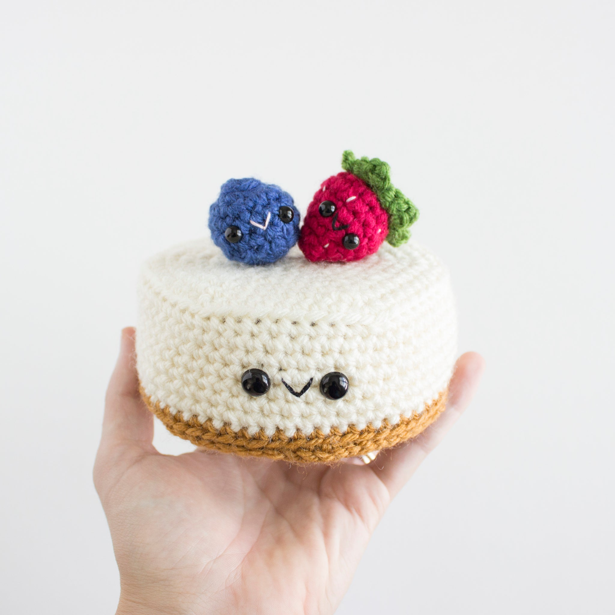 Crochet Amigurumi Cheesecake with Berries- READY TO SHIP