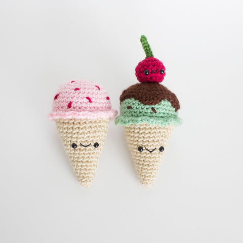 Crochet Amigurumi Ice Cream Cone- READY TO SHIP