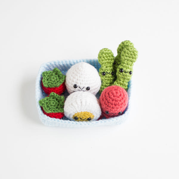 Crochet Amigurumi Bento Box Set- READY TO SHIP