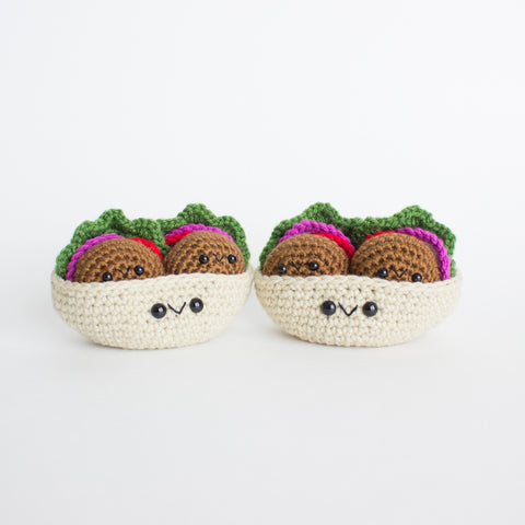 Crochet Amigurumi Falafel- READY TO SHIP