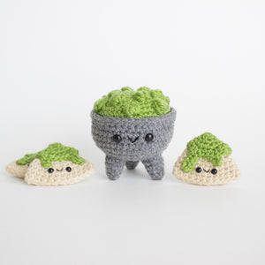 Crochet Amigurumi Chips and Guac Set- READY TO SHIP
