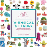 SIGNED COPY of Whimsical Stitches PLUS a PURPLE Stitch the yarn ball enamel pin!