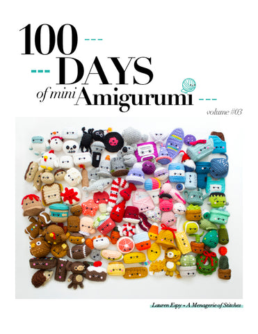 Crochet eBook: 100 Days of Mini Amigurumi VOL 3, PDF Amigurumi Pattern