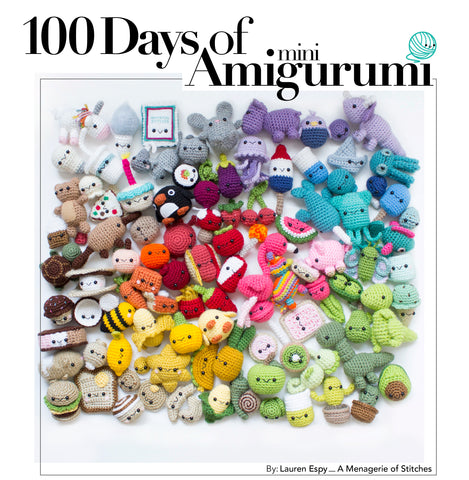 Crochet eBook: 100 Days of Mini Amigurumi, PDF Amigurumi Pattern