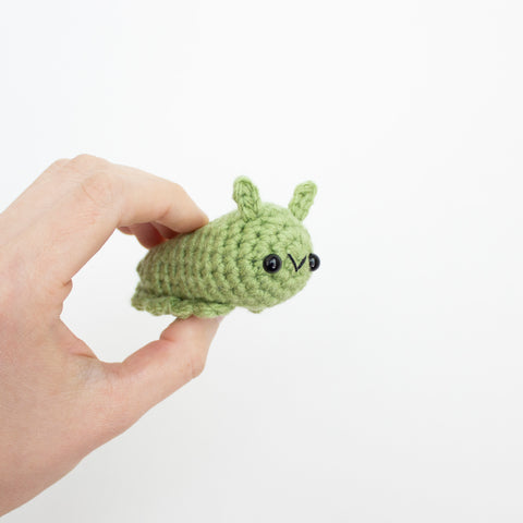 Crochet Amigurumi Mini Slug- READY TO SHIP