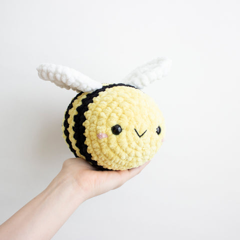 Crochet Amigurumi Extra Large Bee- READY TO SHIP