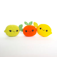 Crochet Pattern: Citrus Fruit Pattern Pack, PDF Amigurumi Pattern