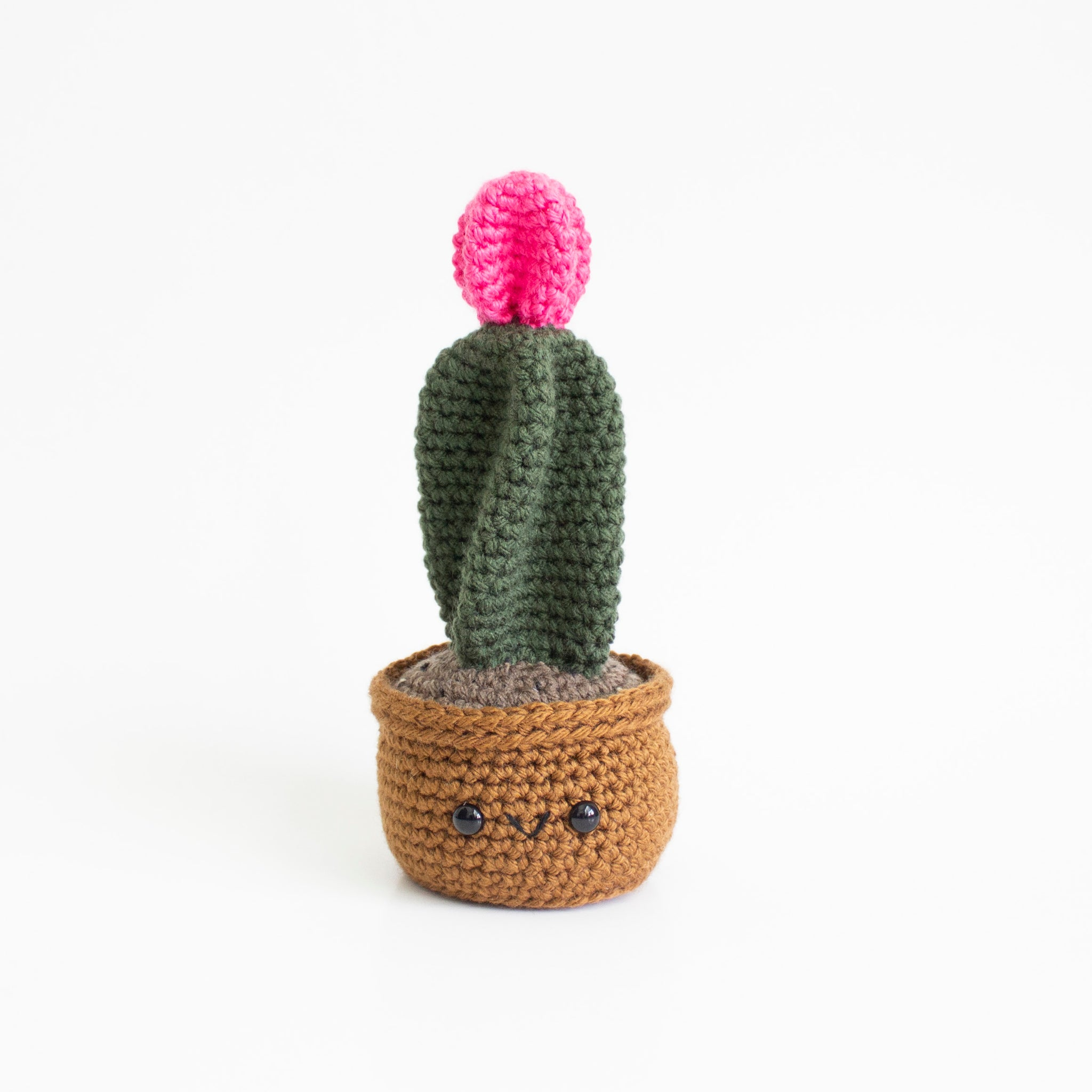 Crochet Amigurumi Pink Moon Ball Cactus- MADE TO ORDER