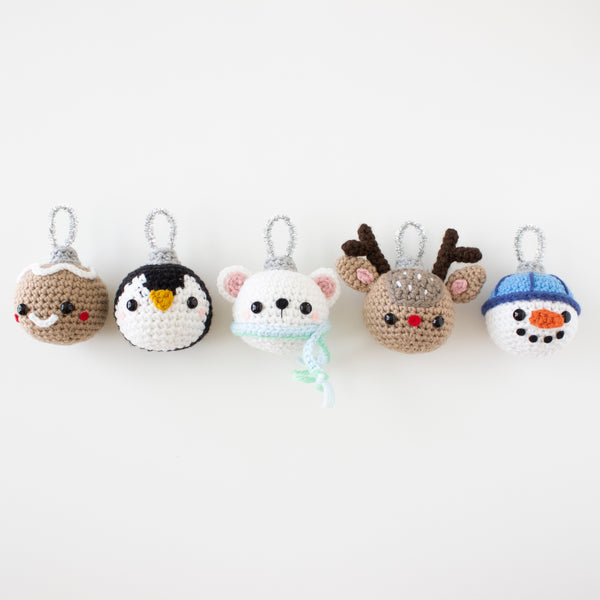 Crochet Pattern: Christmas Ornaments, PDF Amigurumi Pattern