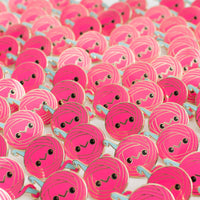 Limited Edition! Hot Pink Stitch the Yarn Ball Enamel Pin!