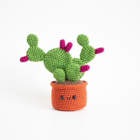 Crochet Pattern: Prickly Pear Cactus, PDF Amigurumi Pattern