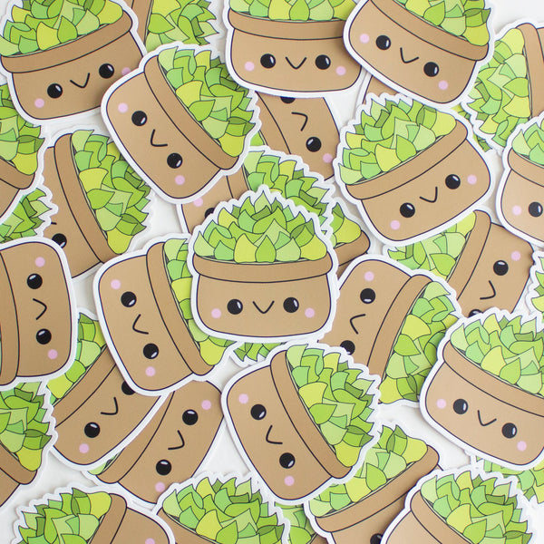 Kawaii Succulent Sticker