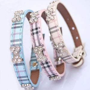 Plaid Leather Collar