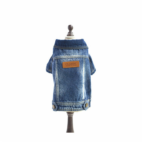 Fashionable Denim Dog Jacket
