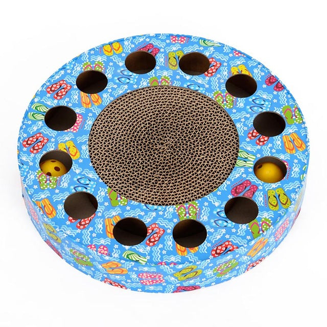 Rounded Multi-hole Scratcher with Balls