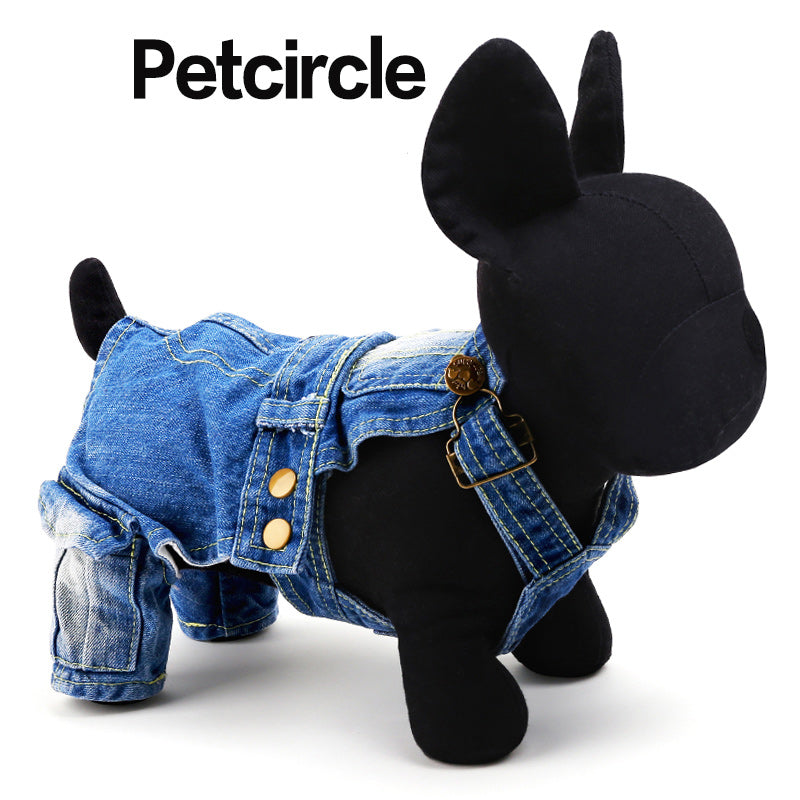 Dog Denim Overalls