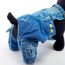Load image into Gallery viewer, Dog Denim Overalls