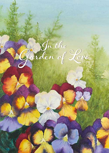 In the Garden of Love Anniversary Card
