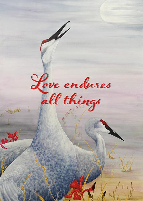 Love Endures All Things Anniversary Card