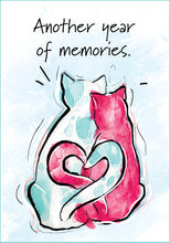 Cat Anniversary Card by Karlie Rosin