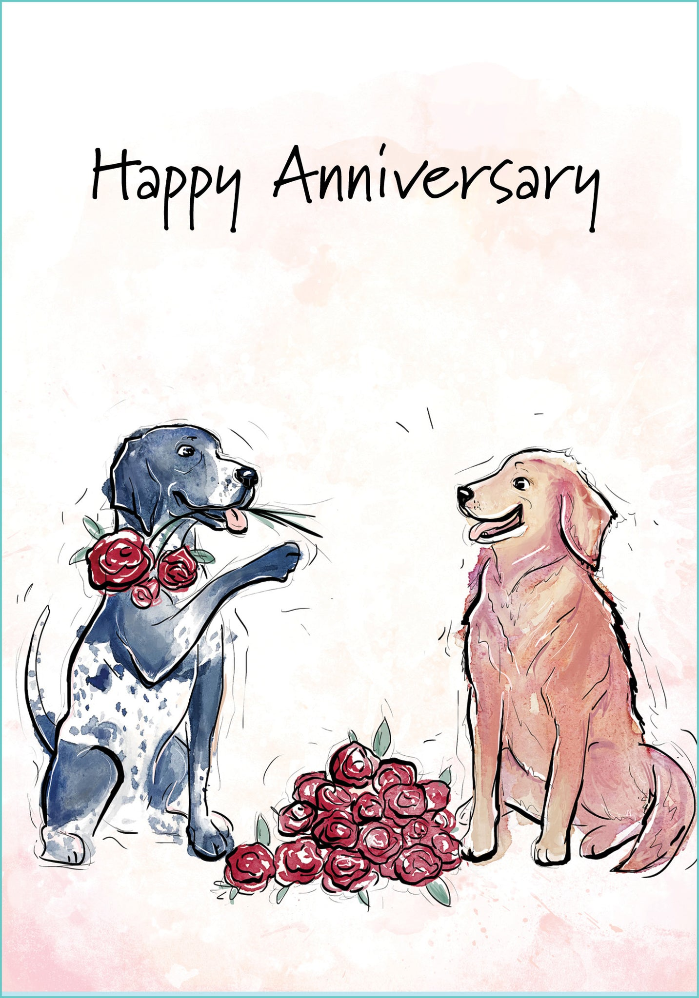 happy anniversary dog card st thomas greetings