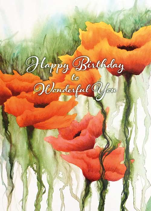 Wonderful You Nature Birthday Card